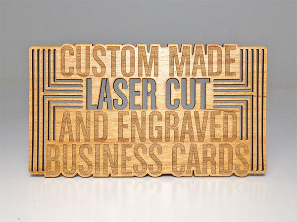 Laser cut business cards on wood metal and plastic home pageimage 2 reheart Images