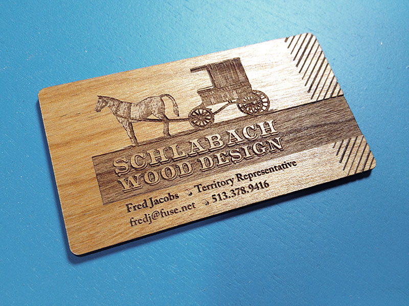 Old Fashioned Laser Engraved Business Cards Ornament - Business Card ...